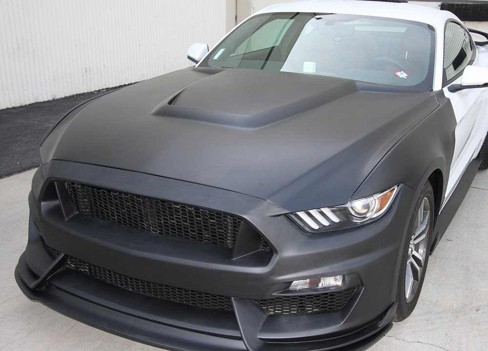 Gt350r Review >> 2015-2017 Mustang Anderson Composites GT350R-Style Fiberglass Hood AC-HD15FDMU-GR-GF
