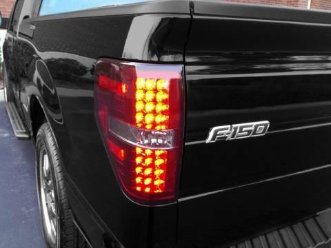 2009 2014 F150 Amp Raptor Spyder Led Tail Lights Red Smoked