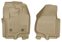 2012-2016 F250 & F350 Husky Liners WeatherBeater Front Floor Liners (Tan)