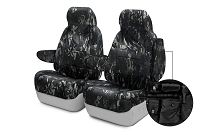 2011-2012 F150 CoverKing Ballistic Multi-Cam Front Seat Covers (Black)