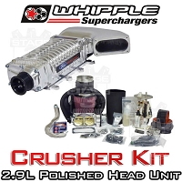 2003-2004 SVT Cobra Whipple Crusher W175AX 2.9L Supercharger Upgrade Kit (Polished)