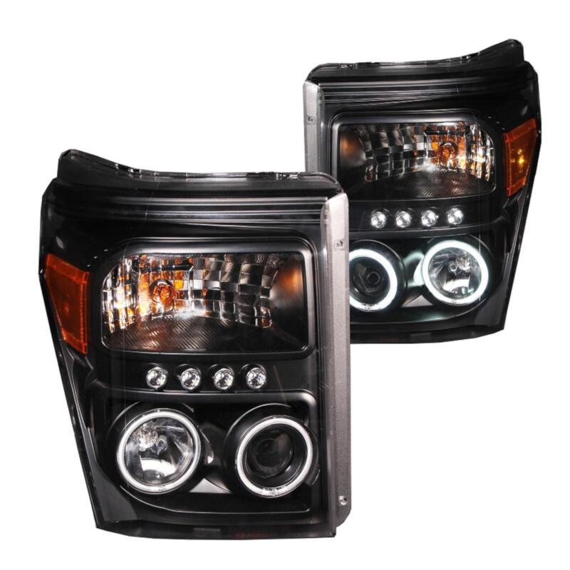 2011 2016 super duty f250 f350 anzo u bar projector headlights black clear 111292