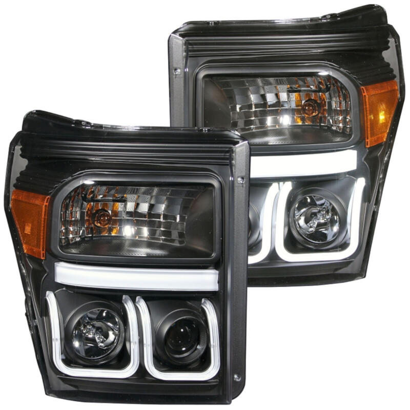 2011 2016 super duty f250 f350 anzo black smoked led lighting package s3m anzo1114