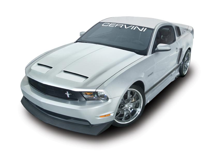 2010 2012 Mustang Cervini S Concept Hood Fiberglass 1200