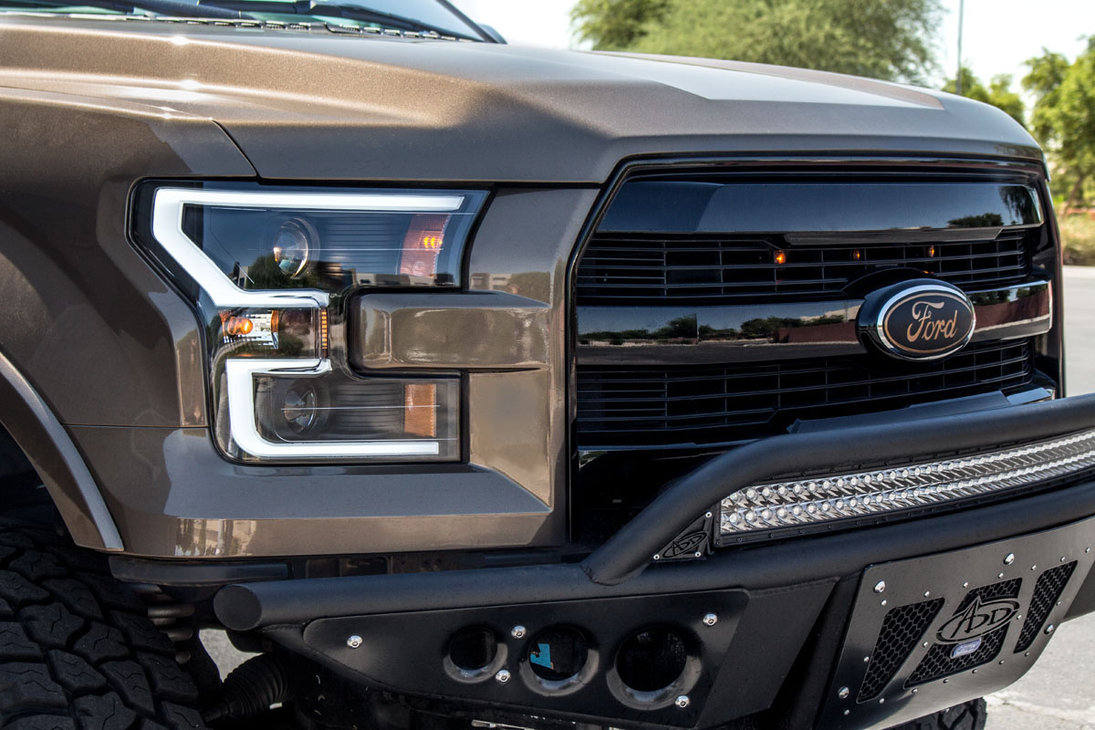 2015-2016 F150 ANZO LED Outline Projector Headlights