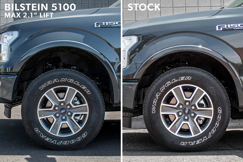 2017 F150 Leveling Kit >> 2015-2018 F150 RWD Bilstein 5100 Adjustable Height Front ...