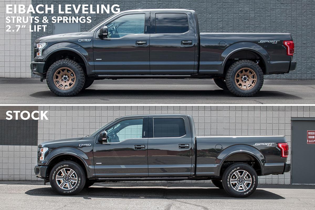 "2015-2018 F150 4WD Eibach Complete Pro-Truck Sport Shock & Strut Kit (0-2"" of Leveling ..."