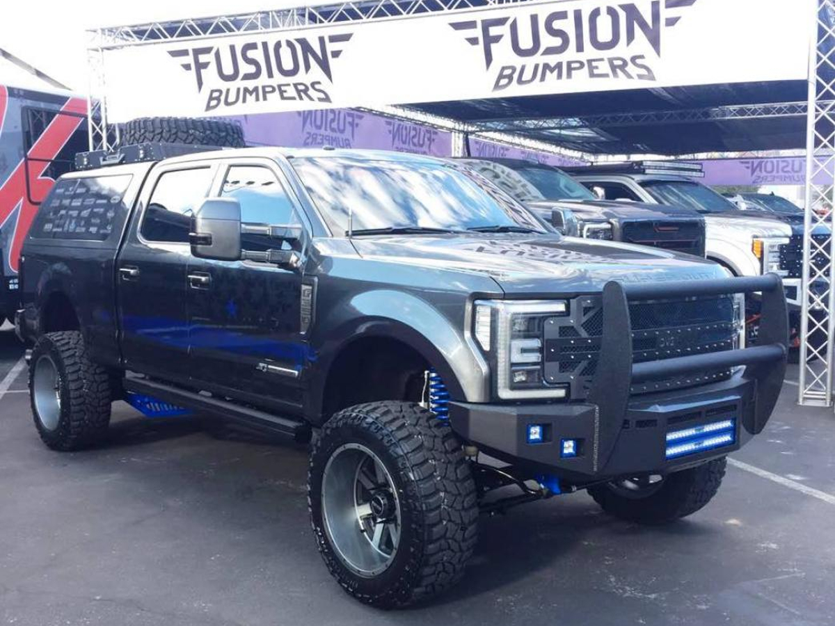 super duty fusion front  road bumper fordfb