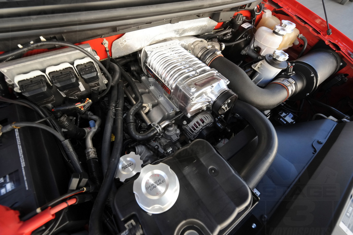 Whipple Supercharger on a 2008 Shelby F150 Super Snake