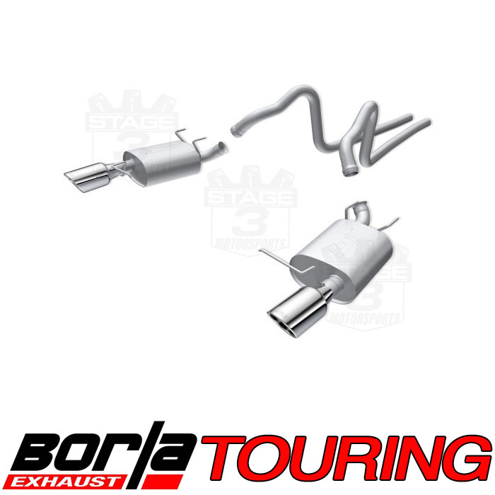 2011-2014 Mustang 3.7L V6 Borla Touring Cat-back Exhaust System