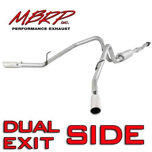 "2011-2014 F150 5.0L MBRP Installer Series 2.5"" Dual Side Exit Cat-Back Exhaust Kit"