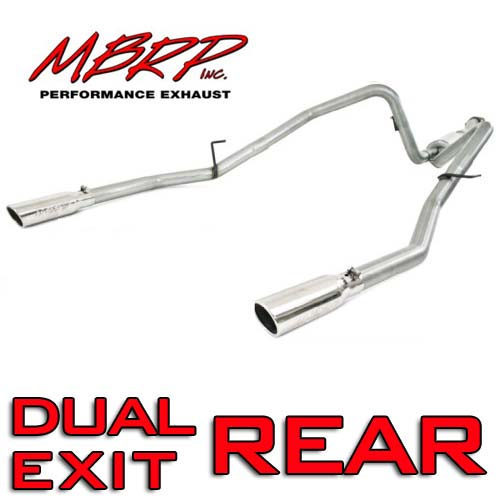 "2011-2014 F150 5.0L MBRP Installer Series 2.5"" Dual Rear Exit Cat-Back Exhaust Kit"