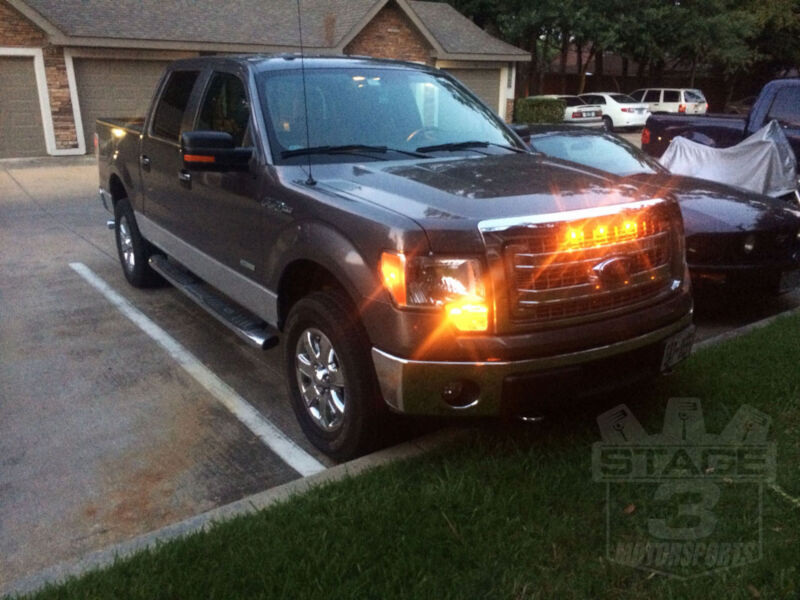 2011 F150 Grill >> 2013-2014 F150 Custom Auto Works Raptor Style LED Amber ...