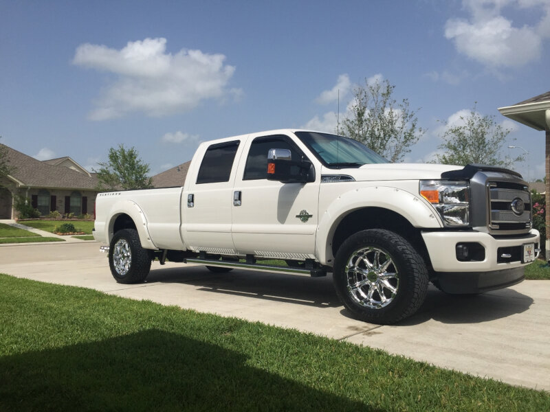 2011 2016 f250 f350 super duty bushwacker pocket style fender flares white platinum 20931 22