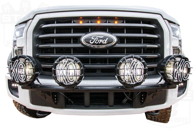 2015-2017 F150 N-Fab Bumper Light Bar for Round Off-Road Lights