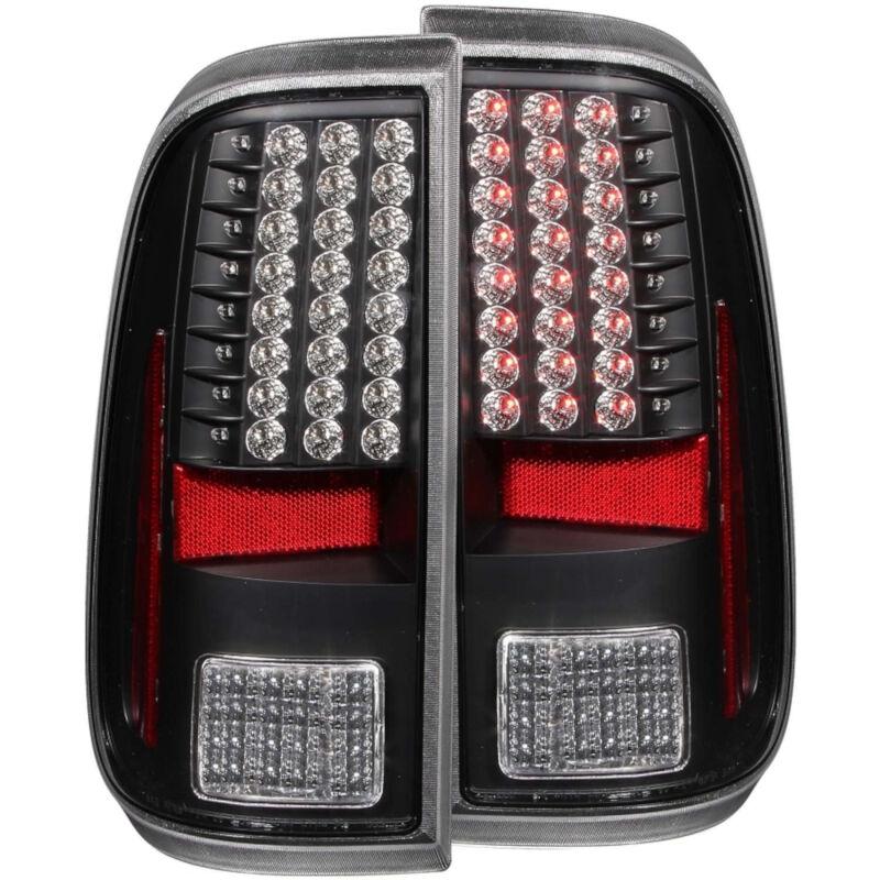 2008 2016 super duty f250 f350 anzo led tail lights black clear 311127