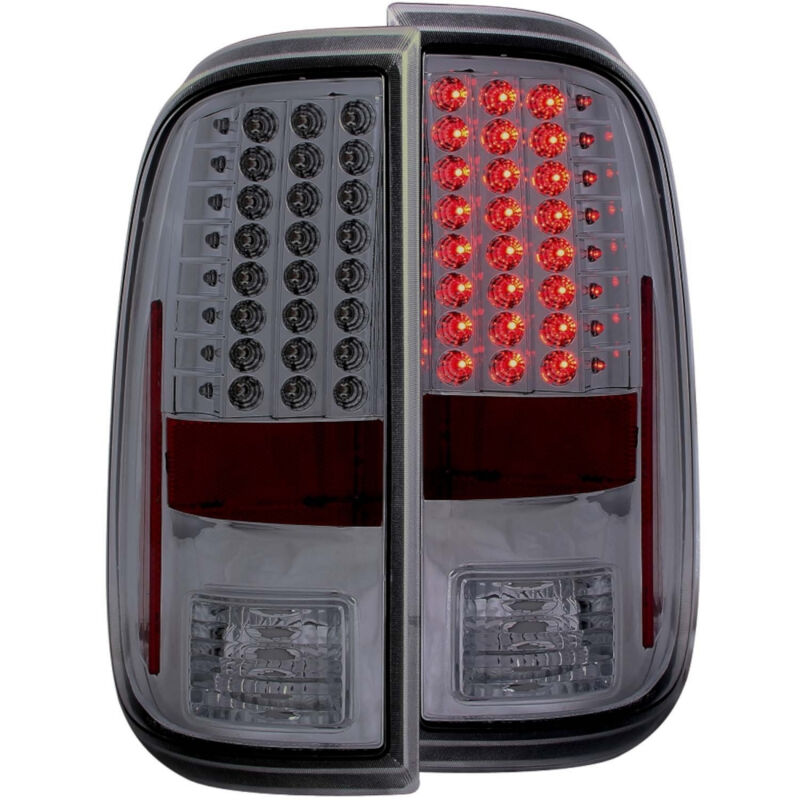 2008 2016 f250 f350 anzo led tail lights smoked 311169. Black Bedroom Furniture Sets. Home Design Ideas