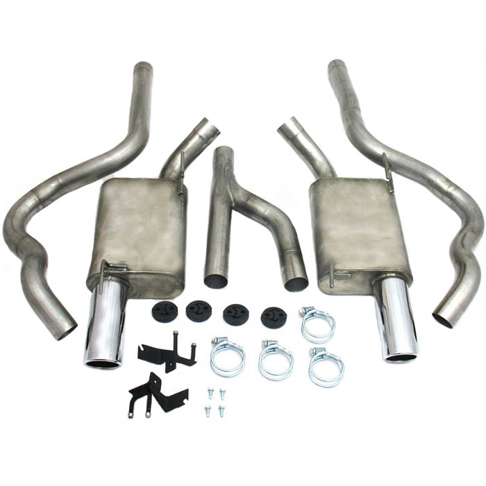 "2005-2010 Mustang V6 JBA 2-1/2"" Cat-Back Dual Exhaust System w/ Y-Pipe"