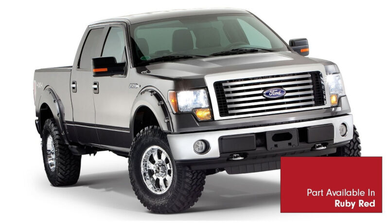 2009 2014 f150 bushwacker pocket style fender flares ruby. Black Bedroom Furniture Sets. Home Design Ideas