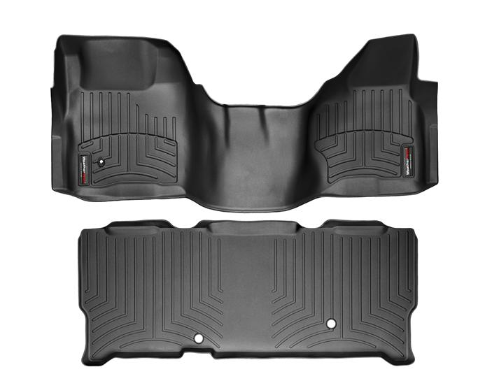 Rugged Ridge Floor Mats F150 2008-2010 F250 & F350 Super Duty SuperCrew WeatherTech ...