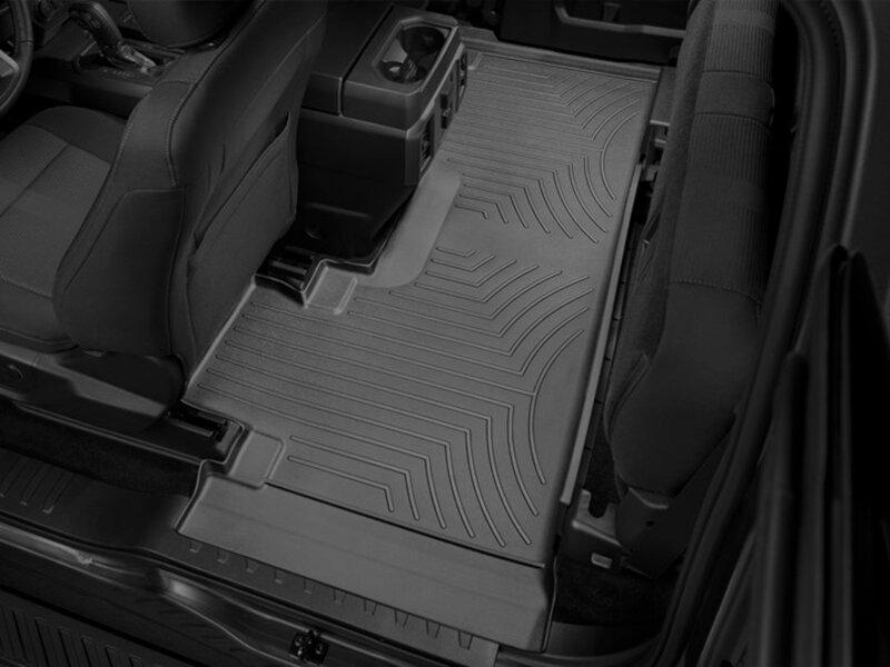 2017 2018 F250 Amp F350 Supercab Weathertech Digitalfit Black Rear Floor Liner Bucket Seats Wt