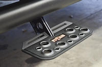 1999-2016 F250 & F350 SuperCrew N-FAB Black AdjustStep Wheel-To-Wheel Nerf Side Bars (Long Bed)