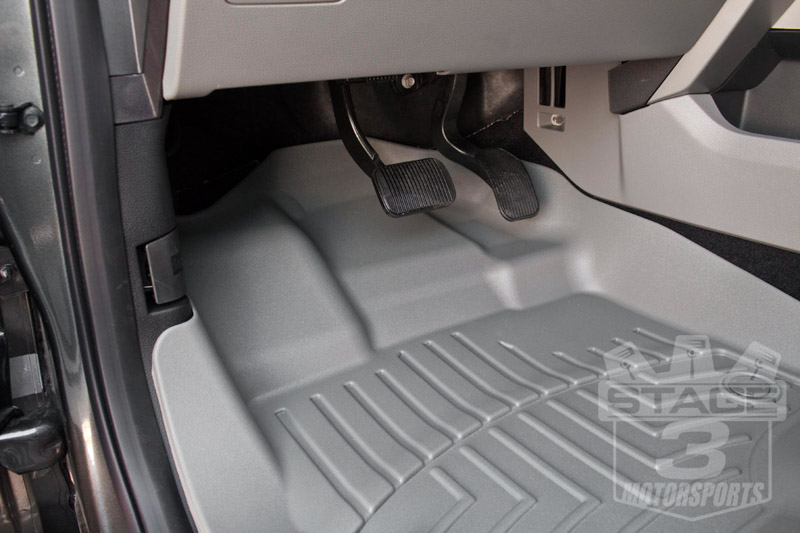 Weathertech door mats - 2015 2017 F150 Crew Cab Weathertech Floor Liner Digital Fit Grey 46697 1 2