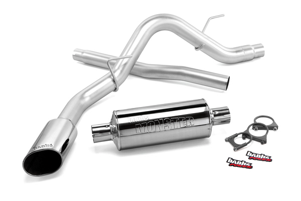 2011-2014 F150 5.0L/3.5L/3.7L Banks Monster Exhaust - Crew Cab 5.5ft. Bed (Chrome Tip)