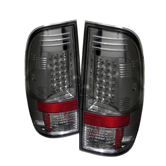 2008 2016 f250 super duty spyder led tail lights smoked. Black Bedroom Furniture Sets. Home Design Ideas