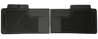 1999-2007 F250 & F350 Husky Liners Heavy Duty 2nd Row Floor Liners (Black)