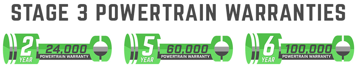 Stage 3's Custom Tuning Powertrain Warranty