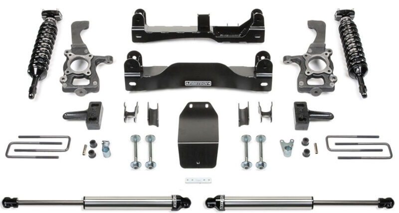 "2009-2013 F150 4WD Fabtech 4"" Performance Suspension Lift Kit w/ 2.5 Coilovers & Rear Dirt Logic Shocks"