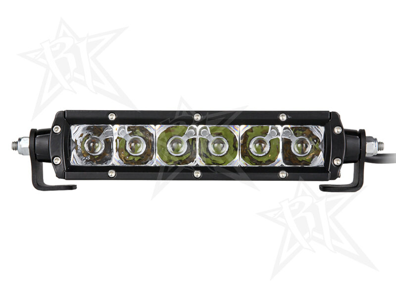 rigid industries 6 inch sr series led light bar white spot 90621. Black Bedroom Furniture Sets. Home Design Ideas