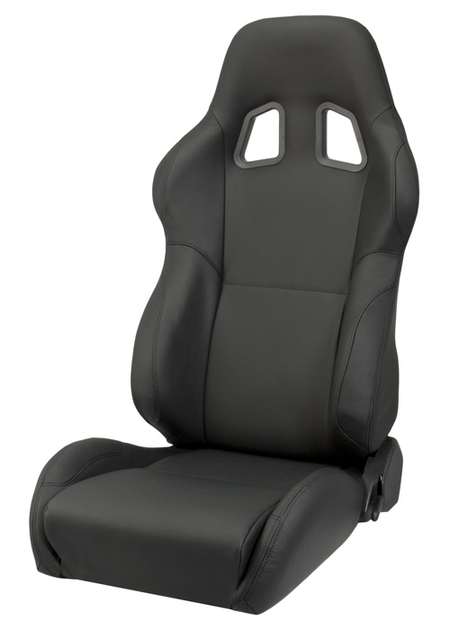 Mustang Gt 0 60 >> Corbeau A4 Racing Seat (Black Leather) L60091