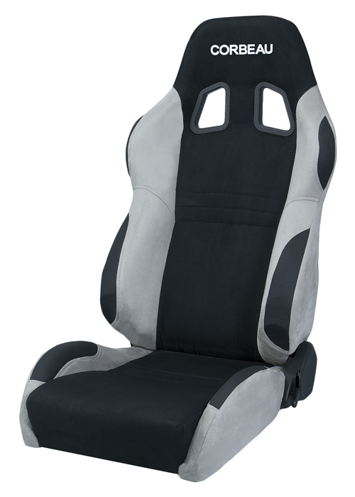 Corbeau A4 Racing Seat Black Grey Microsuede S60099
