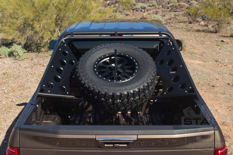 2004 2017 f150 svt raptor add venom chase rack with tire carrier not light mounts c01518na0103