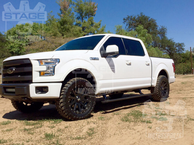 Lifted 2015 F150 >> 2015-2018 F150 AMP Research PowerStep Plug-N-Play Running Boards w/ Light Kit
