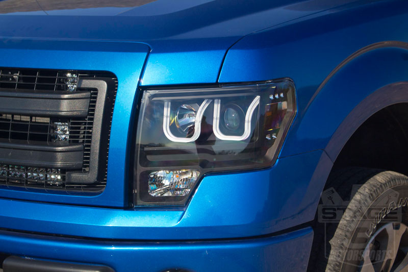 2009-2014 F150 ANZO U-Bar Projector Headlights Installed