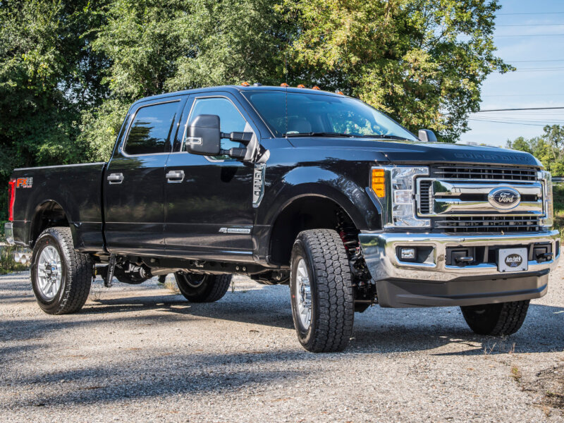 Bds 4 inch lift is available for both gas and diesel engine super duty pickups