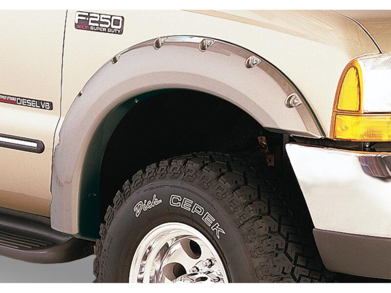 Truck Mud Tires >> 1999-2007 F250 & F350 Super Duty Bushwacker Pocket-Style Fender Flares 20914-02