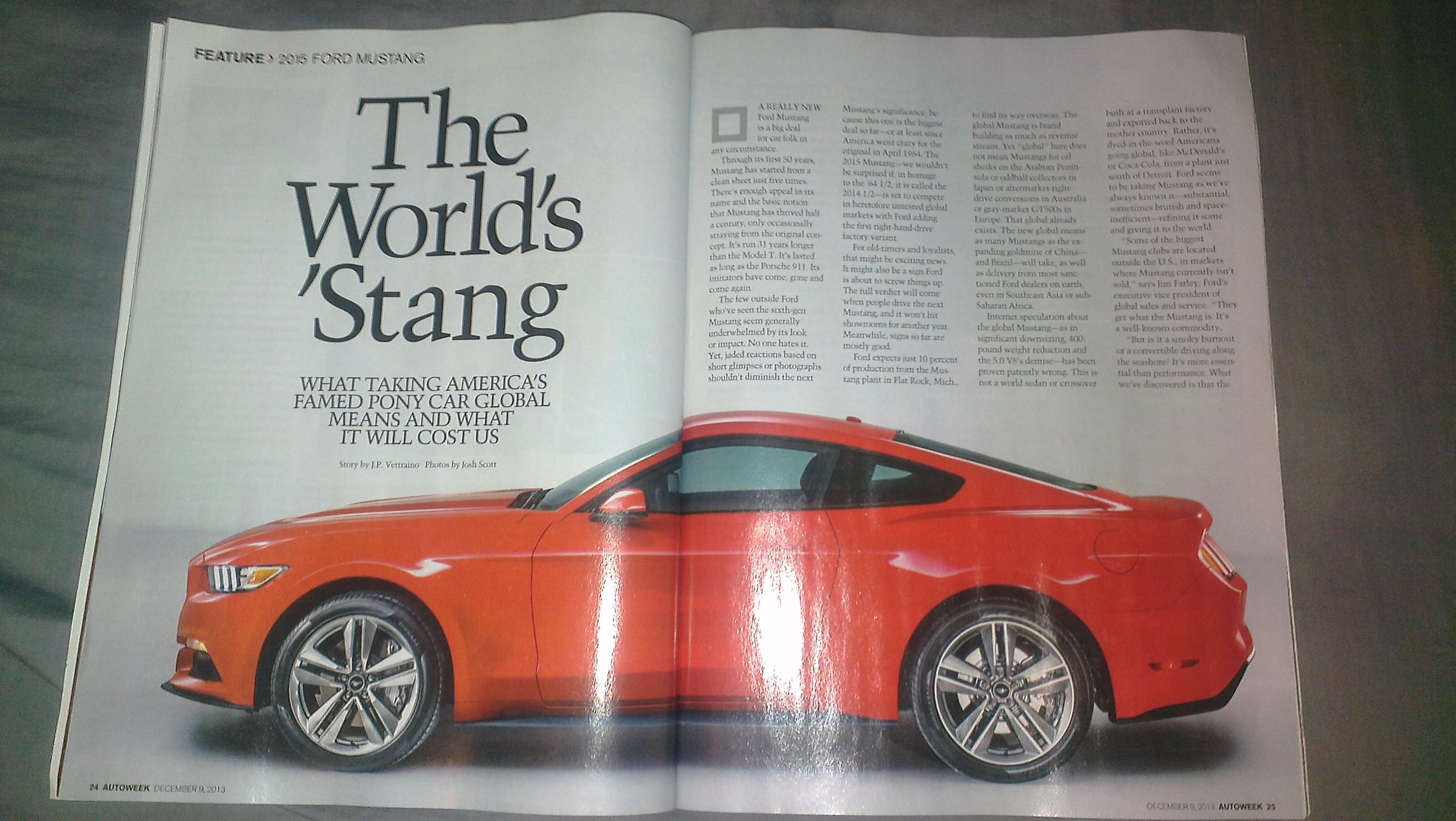 Leaked 2015 Mustang