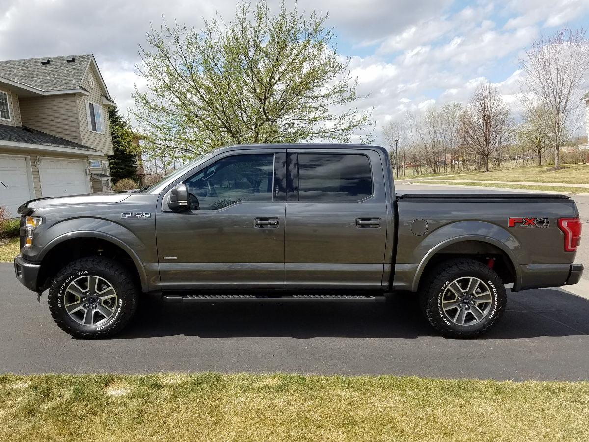 2015-2016 F150 Rancho QuickLift Leveling Kit Installed