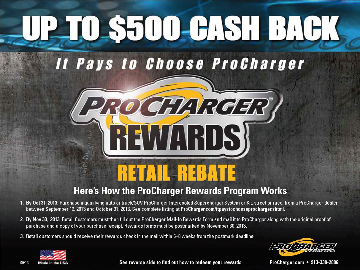 ProCharger Rewards Rebate