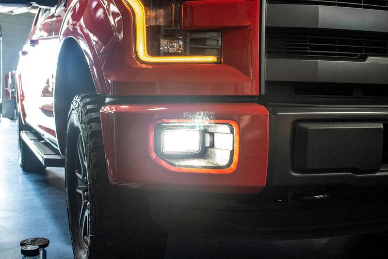 Diode dynamics 1999 2015 f150 led fog lights installed on a 2015 f150