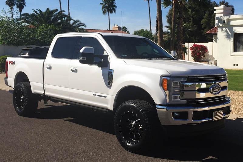 """2016 Ford Super Duty >> 1999-2018 F250 & F350 Fuel Krank 20x10"""" D517 Wheel (8x170mm/-12mm Offset) Black Milled D51720001750"""