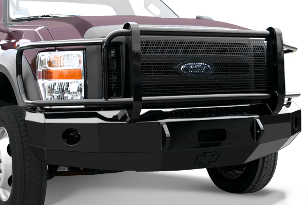 2008 2010 f250 f350 iron cross replacement front bumper full grille model winch ready. Black Bedroom Furniture Sets. Home Design Ideas