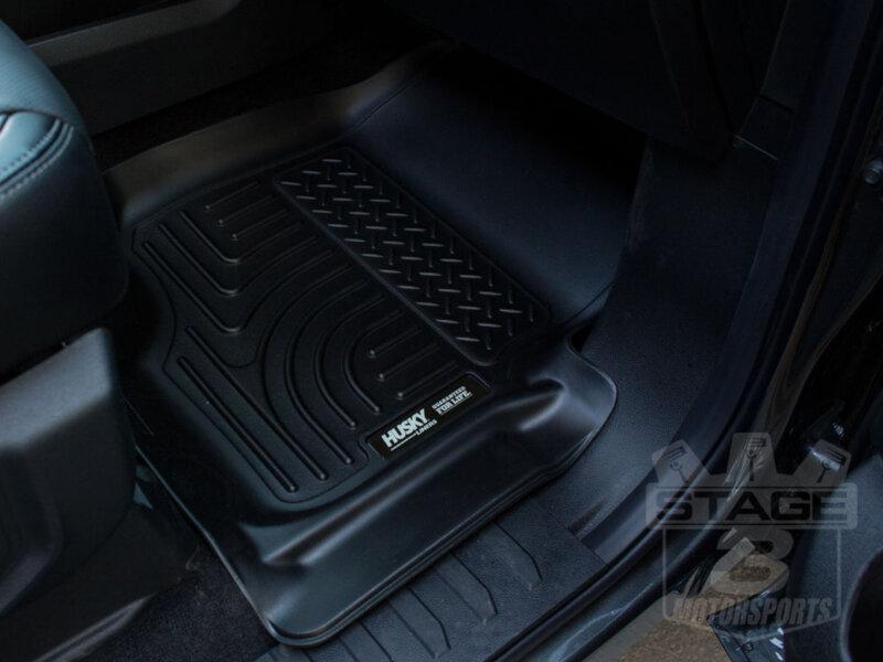 Husky liners weatherbeater all weather front floor mats black
