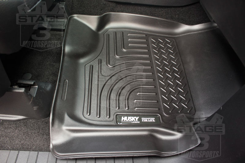 2015 2018 f150 supercrew supercab husky liners weatherbeater front floor liners black 18361