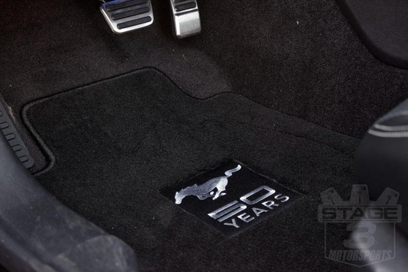 Lm F Mustanglloydmatsblackfloormatset Thanniversaryemblem on Ford Motor Pany Logo