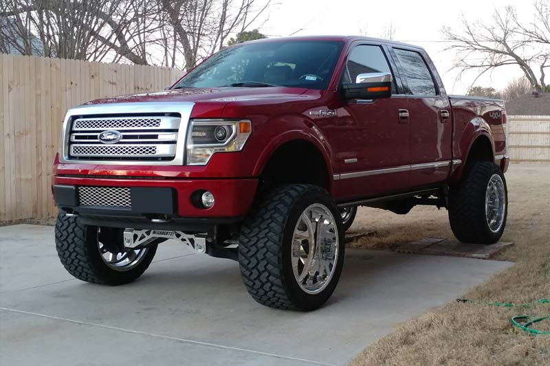 "Lifted Ford F150 >> 2009-2014 F150 4WD McGaughys 6.5"" Lift Kit w/ Shocks 57050"